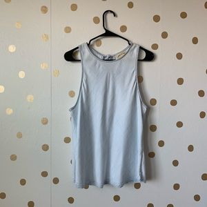 Anthropologie Cloth And Stone Frayed Swing Tank